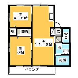 フォレストヒルズ[2階]の間取り