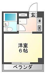 楽天地マンション[2階]の間取り