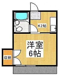メゾネット諏訪[1階]の間取り