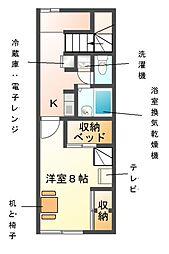 レオパレスComfort和幸[2階]の間取り