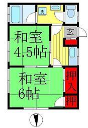 第二坂本荘[202号室]の間取り