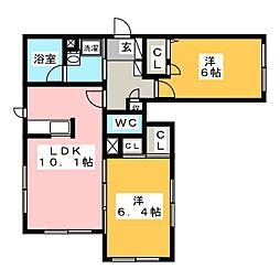 (仮)寒川町小谷1丁目シャーメゾン 1階2LDKの間取り
