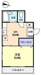 シェーネスハウス勝田台[1階]の間取り