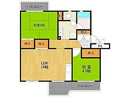 UR中山五月台住宅[4-504号室]の間取り