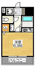 フォーラム美野島[8階]の間取り