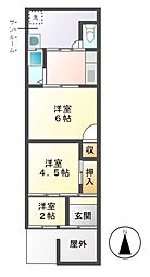 [一戸建] 愛知県名古屋市中川区高畑2丁目 の賃貸【/】の間取り