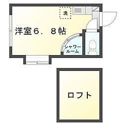 ユナイト鹿島田フェリクス[101号室]の間取り
