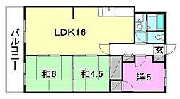 空港中央ビル[602 号室号室]の間取り