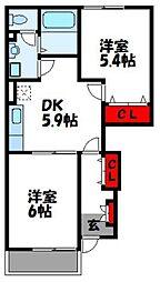 レジデンス大門[1階]の間取り