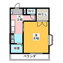 ヴィラコンテッサ桜橋[3階]の間取り