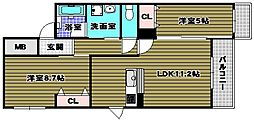 YF宮山台ガーデン[1階]の間取り