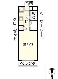 N.S.ZEAL東別院[9階]の間取り