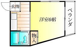 大阪府羽曳野市はびきの4丁目の賃貸マンションの間取り
