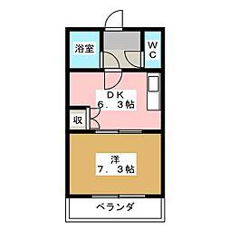 フォレスト萩野通[5階]の間取り
