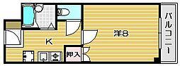 大阪府茨木市大正町の賃貸マンションの間取り