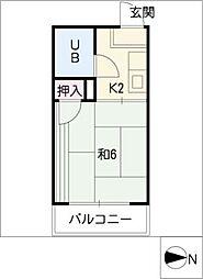 フォーブル沖田[1階]の間取り