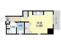 カサプラティーノ名古屋ノルテ 5階ワンルームの間取り
