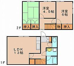 [一戸建] 福岡県福岡市博多区諸岡4丁目 の賃貸【/】の間取り