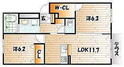 仮称 シャーメゾン長野[1階]の間取り