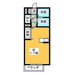 シンシアリティー[2階]の間取り