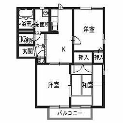 シエスタC棟[2階]の間取り