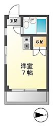 ランドフォレスト東豊田[3階]の間取り