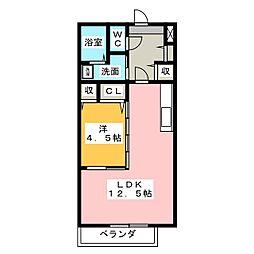宗美II[2階]の間取り