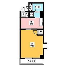 ガーデンハイツ中村[2階]の間取り
