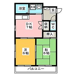創建ビル[4階]の間取り