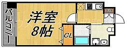 福岡県福岡市中央区港1の賃貸マンションの間取り