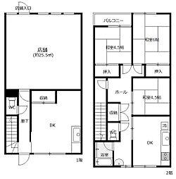 住居付き店舗(1階のみ)[1F号室]の間取り