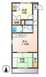 パークレン折戸[4階]の間取り