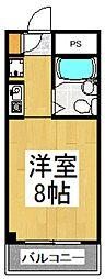 カミヤハイツ[2階]の間取り