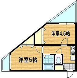 イースター西栄[2階]の間取り