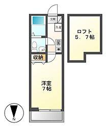 神奈川県川崎市宮前区馬絹2丁目の賃貸アパートの間取り