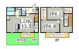 仮)D−roomTV大室2丁目C[1階]の間取り