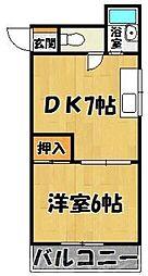 福岡県北九州市小倉北区真鶴2の賃貸マンションの間取り