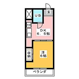 ラ・フォーレ吉野[1階]の間取り
