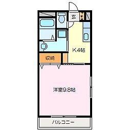 RIVER SIDE II[1階]の間取り