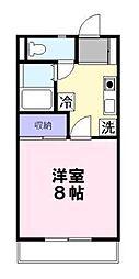 埼玉県草加市花栗3丁目の賃貸マンションの間取り