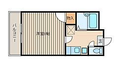 フラット福寿第3[3階]の間取り