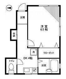 アオバハイツ[1階]の間取り