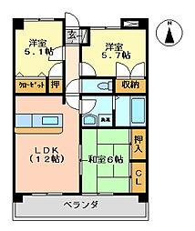 K's2002[506号室号室]の間取り