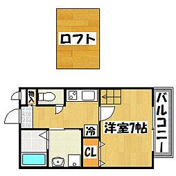 兵庫県神戸市垂水区陸ノ町5丁目の賃貸アパートの間取り