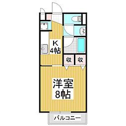 SurplusOneアカハネ[2階]の間取り