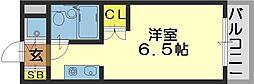 ロイヤルアーク八戸ノ里[308号室]の間取り