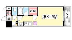 アスヴェル神戸元町海岸通[804号室]の間取り