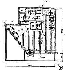 JR埼京線 北赤羽駅 徒歩13分の賃貸マンション 5階1Kの間取り