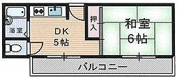 大阪府大阪市住之江区御崎3丁目の賃貸マンションの間取り