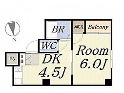 JPアパートメント港III[4階]の間取り